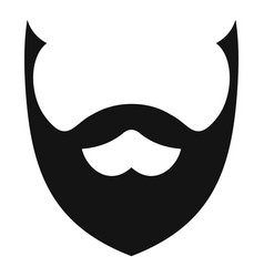 stylish beard icon simple style vector image