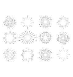 Sunburst vintage set vector image