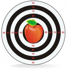 Target apple inside vector