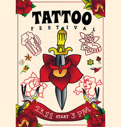Tattoo festival poster vector