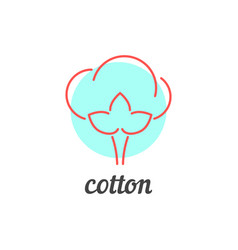 thin line cotton icon vector image