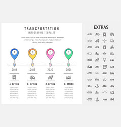 Transportation infographic template and elements vector