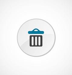 Trash bin icon 2 colored vector