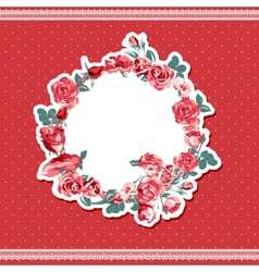 Vintage floral background with roses vector image