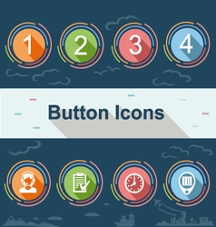 Web buttons set of icons vector image