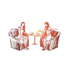 Woman psychologist consultation listening vector