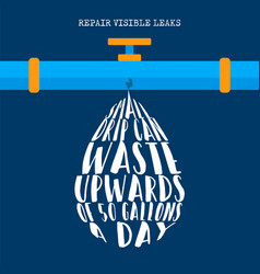 world water day information for nature help vector image