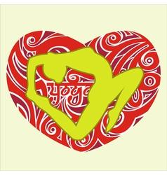 Yoga heart vector