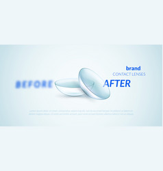 Contact lenses advertising template vector