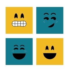 Face design Cartoon icon White background vector image vector image