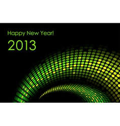 Green happy new year card 2013 vector image vector image