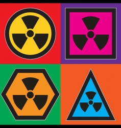 nuclear symbols vector image