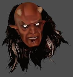 red devil head vector image