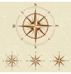 vintage compases set vector image vector image