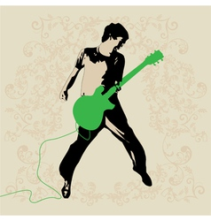 Young Guitar Player vector image