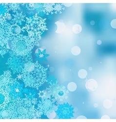 Christmas abstract bokeh EPS 8 vector image vector image