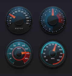 futuristic car speedometers speed indicators with vector image