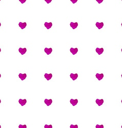 Watercolor seamless pattern with hearts vector image