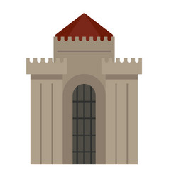 medieval building icon isolated vector image