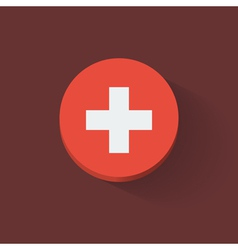 Round icon with flag of Switzerland vector image vector image
