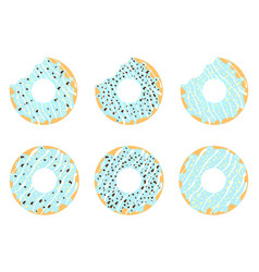 set of donuts 2 vector image