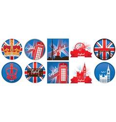 Set of england vector image