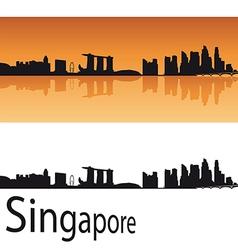 Singapore skyline in orange background vector image vector image