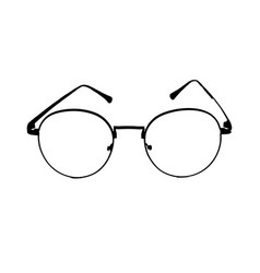 black glasses on isolated vector image vector image