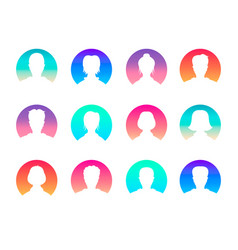 social network and media avatars collection - vector image vector image