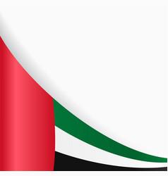 united arab emirates flag background vector image vector image