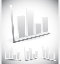 3d bar chart bar graph elements for presentation vector image
