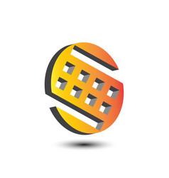 3d letter s logo vector image