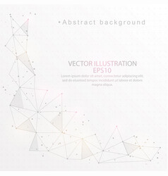 Abstract background digitally drawn low poly vector
