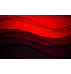 Abstract red waves - data stream concept vector