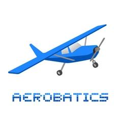 Aerobatics plane vector