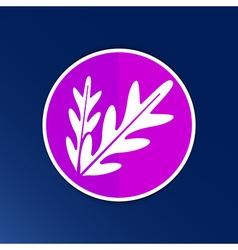 Arugula foliage logo element icon food vegetarian vector