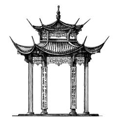 Asia logo design template temple vector