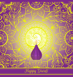 beautiful greeting card for hindu community vector image