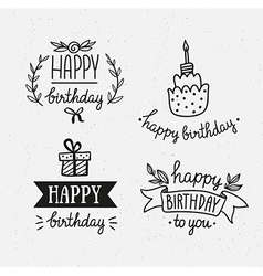 Birthday party design elements vector