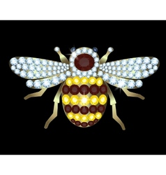 Brooch-bee vector