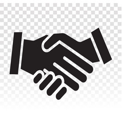Business agreement handshake icon for application vector