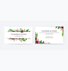 business card invite save date floral vector image