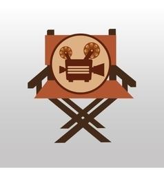 Camera movie vintage chair icon design vector