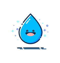 cartoon water droplet with a smile vector image