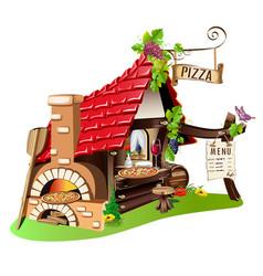 Cheerful pizzeria vector
