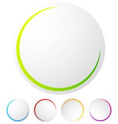 circular preloader progress indicator at 5 vector image