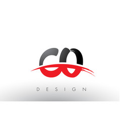 Co c o brush logo letters with red and black vector