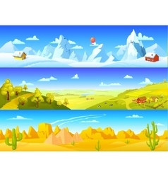 Colorful Landscape Horizontal Banners vector image