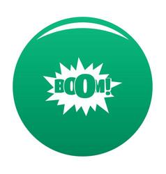 comic boom big icon green vector image