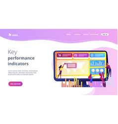 Dashboard service concept landing page vector